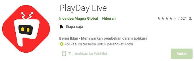 aplikasi penghasil uang rupiah tanpa paypal playday live